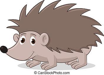 Vector illustration of hedgehog on white background.