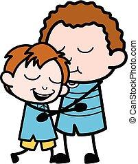 Cartoon Kid Giving a Hug