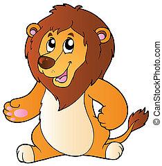 Cartoon standing lion