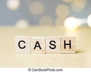 Cash, Business Words Quotes Concept