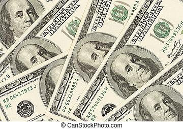 Cash money dollar. Background with money american hundred dollar bills.