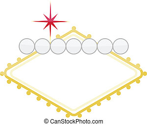 casino customizable illustration sign isolated over white