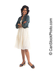 casual indian female with skirt