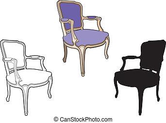 Chair purple style