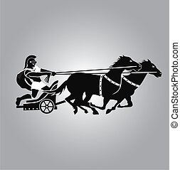 Chariot type of horse carriage, used in both peace and war