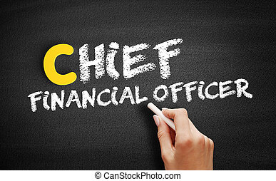 Chief Financial Officer text on blackboard