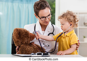 Child during medical appointment