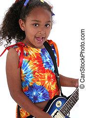 Child Girl Guitar