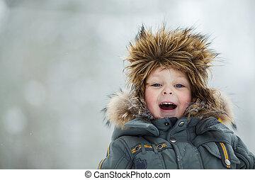Child in winter hat