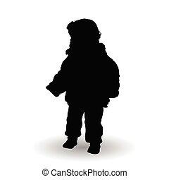 child standing illustration silhouette