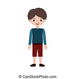 child standing with t-shirt pants and shoes