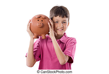 Child with moneybox savings