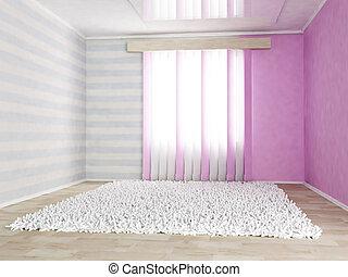 children's room in gentle colors