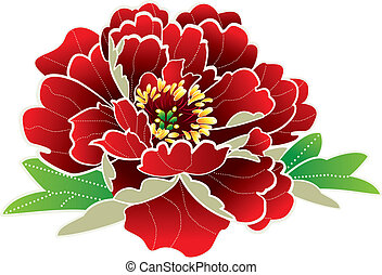 chinese new year flower illustration