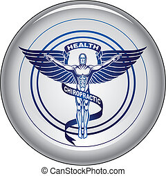 Chiropractor Symbol or Icon Button