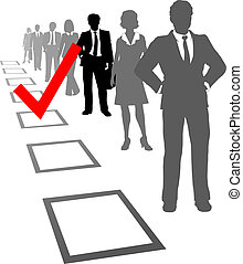 Choose business people select resources box
