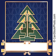 Christmas and New Year background card design with text label