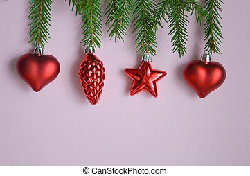 Beautiful bright Christmas card on a light background. Merry Christmas. Waiting for the holiday. Decor for Christmas tree decoration and festive mood. Christmas decorations. Make a wish. Happy holiday: decorations, candy, Christmas toys.