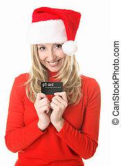 Christmas Girl Gift card