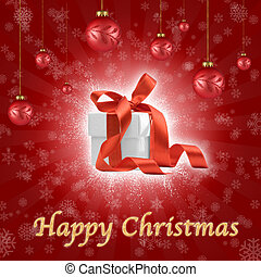 christmas ornaments composition