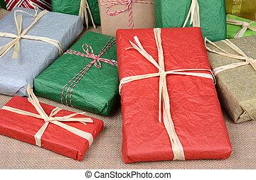 Christmas Presents Closeup