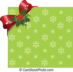 Christmas Red ribbon on green