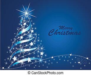 Vector illustration of an abstract shining Christmas tree
