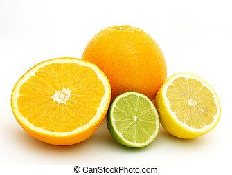 Lemon, lime and oranges
