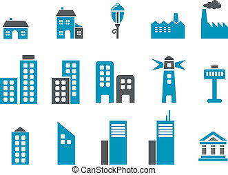 Vector icons pack - Blue Series