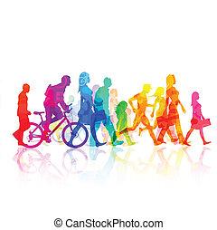 Various Modern People - vector Illustration.