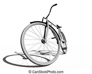 classic bicycle over the white