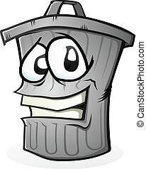 Clean Trash Can Cartoon Character