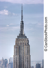 Close up of Empire State Building, New York City