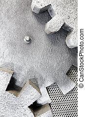 Close-up of Machine Gears