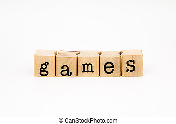 games wording isolate on white background
