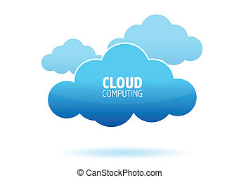 Cloud computing concept illustration design isolated over a white background