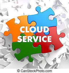 Cloud Service on Multicolor Puzzle.