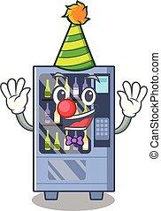 Clown wine vending machine mascot shaped character
