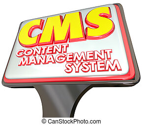 CMS Content Management System Advertising Sign Website Platform
