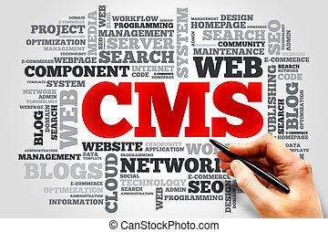 CMS word cloud
