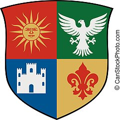 coat of arms vector illustration