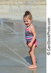 Cold Water Brings a Scream From Little Girl