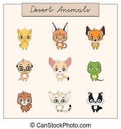 Collection of desert animals