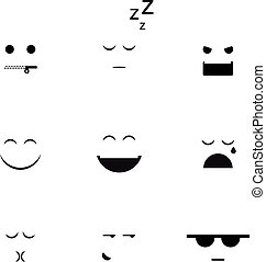 Collection of different emoji vector clipart