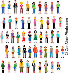 collection of different vector people, vector illustration