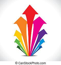 color arrow