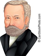Color Drawing of Louis Pasteur