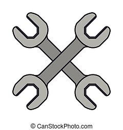 color image of pair of wrench tool crossed