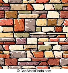 vector seamless background with a stone wall