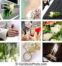 Color wedding photo set